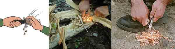 Creación de fuego en situación SERE