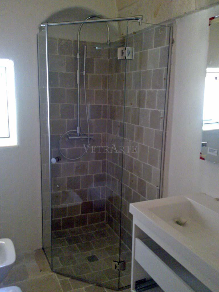 Box doccia per bagno in pietra  Vetrarte GR