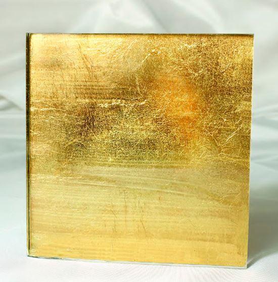 Foglia oro su vetro  Vetreria Bazzanese