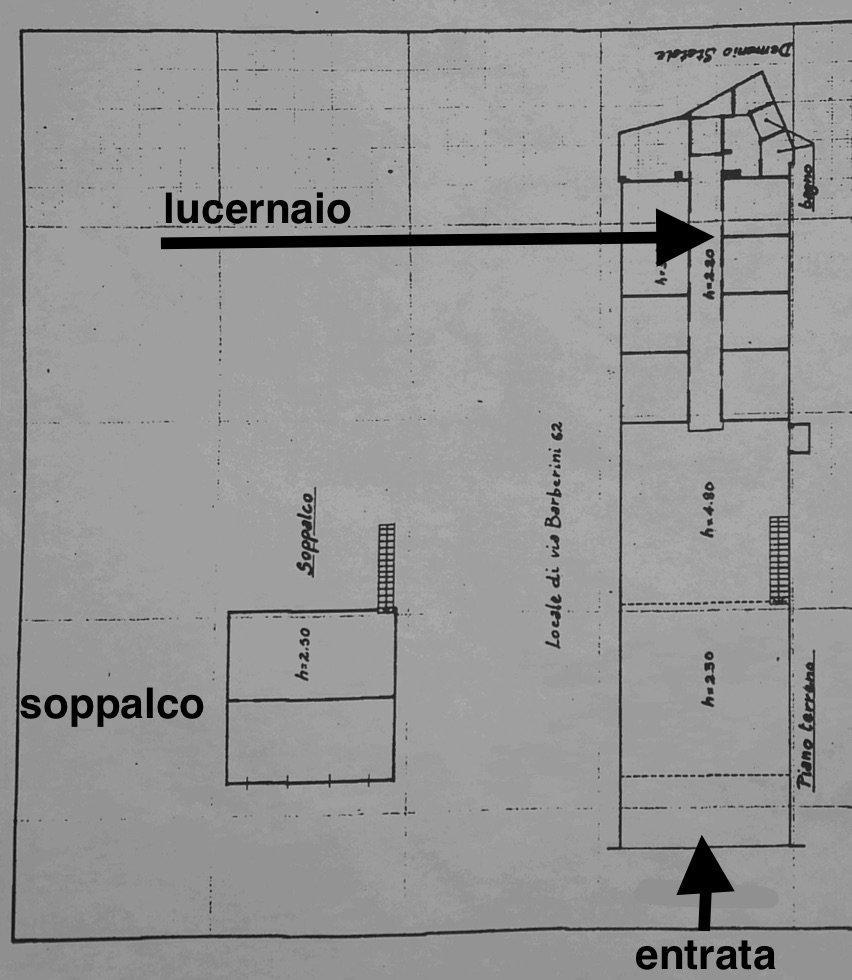 Planimetria Locale Commerciale Roma Barberini