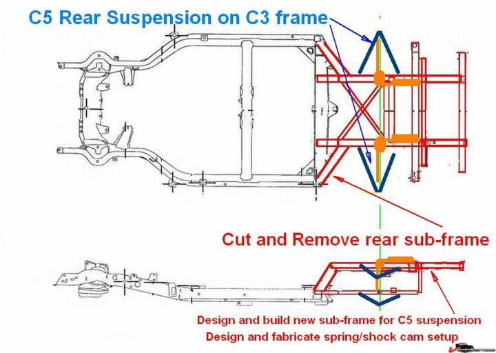 C4 Corvette Frame Drawing | Viewframes.org