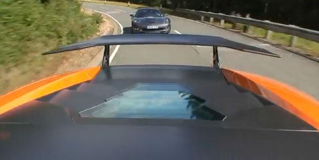 2009 Corvette ZR1 vs Lamborghini LP670-SV