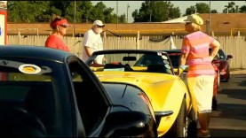 Corvette owners stop in Davison, MI as part of National Corvette Museum Caravan