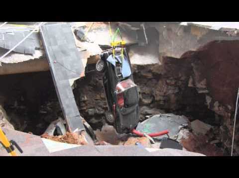 1962 Corvette Pulled from National Corvette Museum Sinkhole