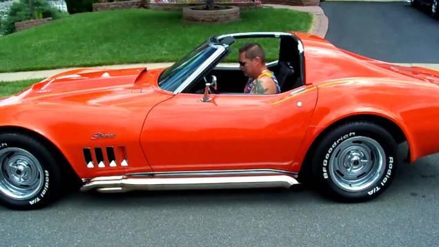 1969 Orange Corvette…XS-Power 321 Stainless…under the bottom Strap Install