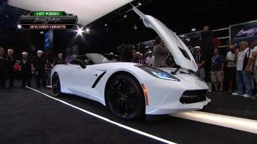 2015 Cheverlet Corvette  Raises $400k for Charity – 2014 Barrett-Jackson Las Vegas