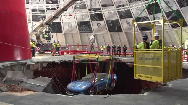 Behind-the-Scenes of Corvette Recovery Operation at National Corvette Museum