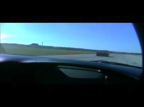 C5 405hp stock Corvette Z06 trying to rundown a F40 Ferrari at Sebring