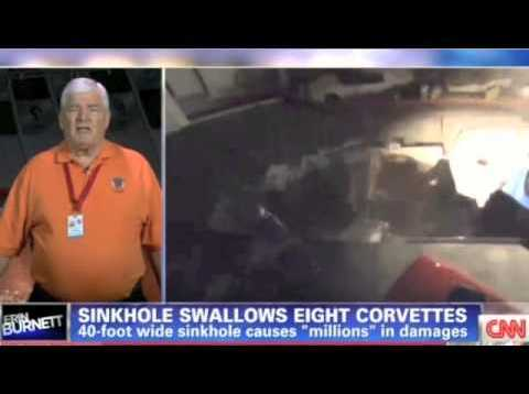 CNN Interviews Corvette Museum Director Wendell Strode about the Sinkhole