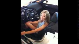 Kristen's Drag Race C6 Corvette vs 2011 Mustang GT 5.0 2011 Camaro SS at TMS