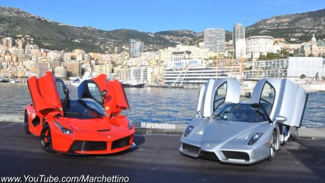LaFerrari vs Ferrari Enzo Driving Fast in the Hills!
