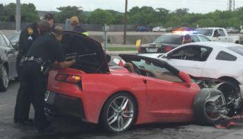 Georgia: Corvette chase through Buckhead ends with several crashes