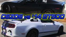 C6 Z06 Corvette vs 2014 Mustang Shelby GT500