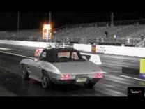 LS7 427 powered 1967 Corvette Convertible 1/4 mile Drag Video