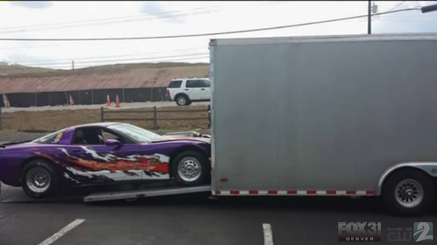 Theft of valuable trailer for special Corvette caught on camera
