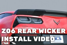 Corvette C7 Z06 Rear Spoiler Wicker Install Video