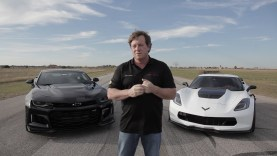 2017 Corvette Z06 Takes On The New 2017 Camaro ZL1 at the Drag Strip