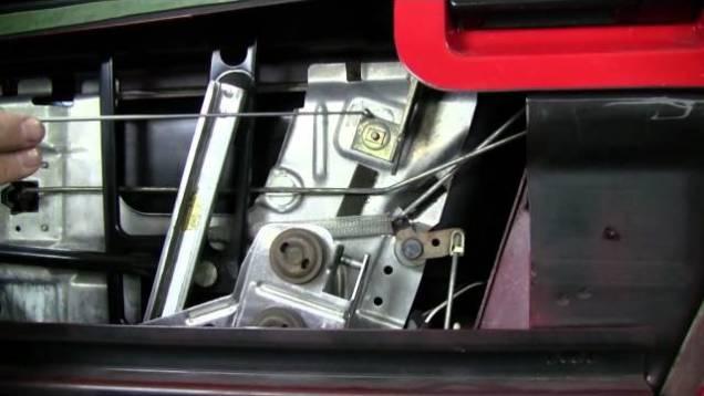 C4 Corvette Cutaway Window Adjust