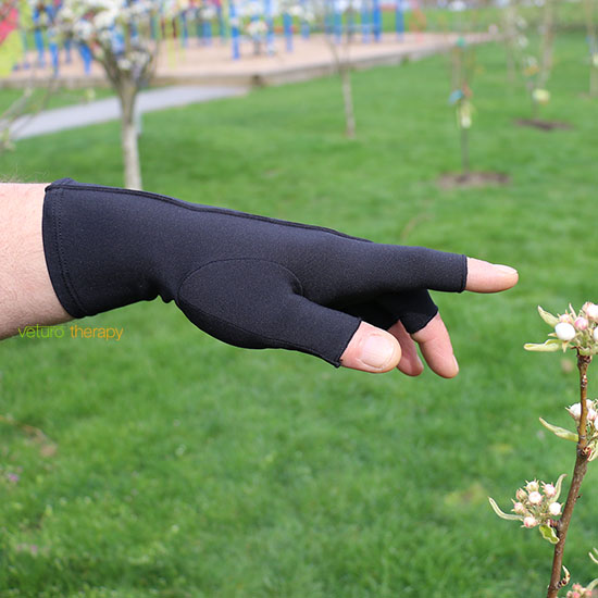 Infrared Arthritis Gloves Half Finger Compression For Hand Pain Relief