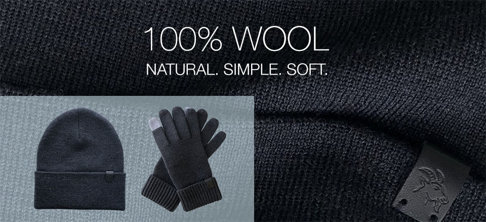 Merino Wool Gloves and Beanie Hat Natural Warmth