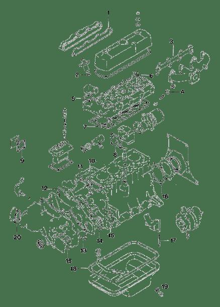 Vetus Engine Gasket Set for M4.14 (Vetus STM3449)