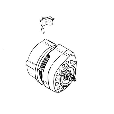Alternator12V/95A Single Pole Vetus Deutz DT43 DT64 (Vetus