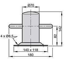 Vetus Stainless Steel Bollard Achilles 130 (Vetus ACHIL130)