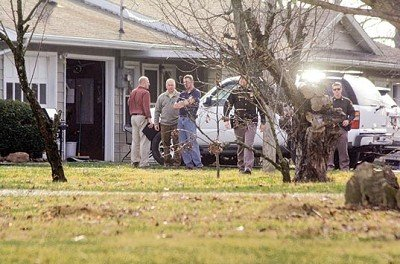 Indiana State Police Detectives and Ohio County Sheriff Deputies were on the scene of the fatal shooting on Monday near Aberdeen.
