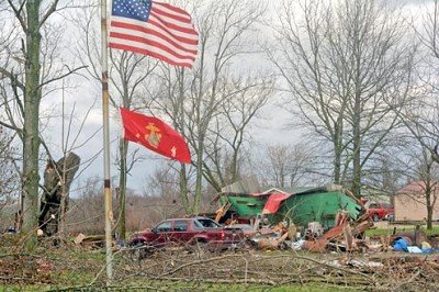 Don Curry is a Marine Veteran and severe storms blasted through his home on State Road 56.