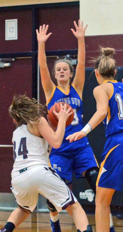 Danyka Groover makes her presence known inside against South Decatur.
