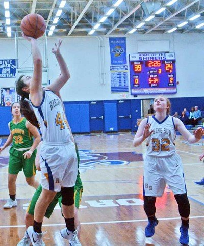 Freshman Maddi Wilson tied a career high with 11 points against Shawe.