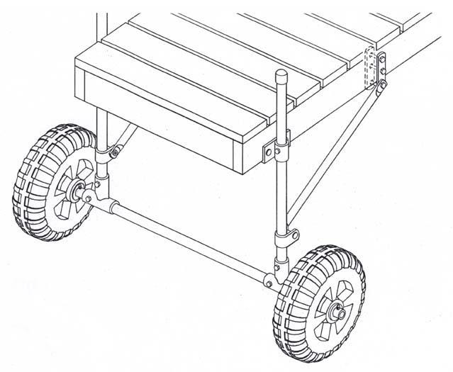 Dock & Boat Lift Installation Wheels / Wheel Mounting Kits