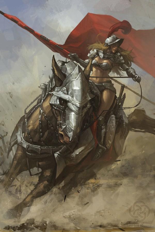 Kick-ass Illustrations Of Warrior Women Design