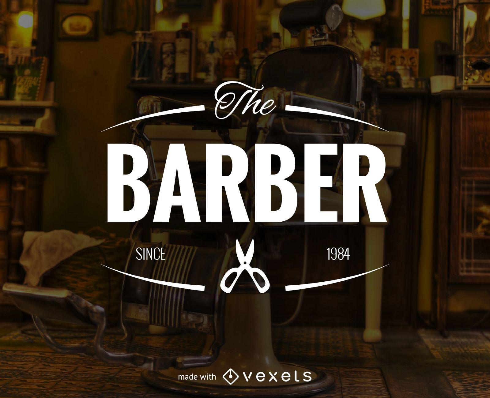 barber shop logo label