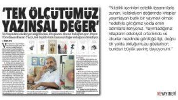 Kenan Yücel ile söyleşi, Dilek Atlı, Bursa Olay gazetesi.