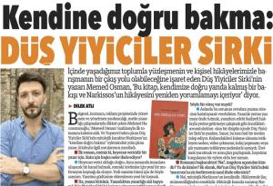 memed osman, düş yiyiciler sirki, roman, bursa olay gazetesi, dilek atlı, söyleşi