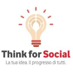 L'immagine mostra il logo del Think for Social di Vodafone
