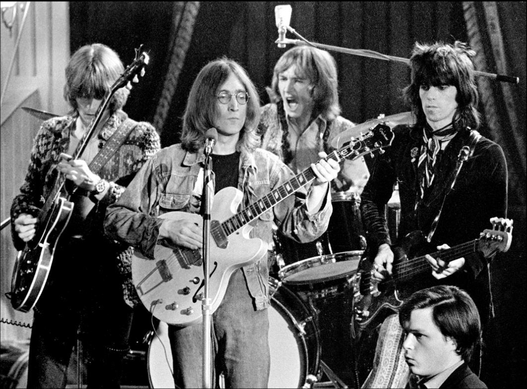 John Lennon, Eric Clapton, Keith Richards, Mitch Mitchell, Jimi Hendrix
