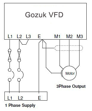 Single Phase VFD with 220V input/output