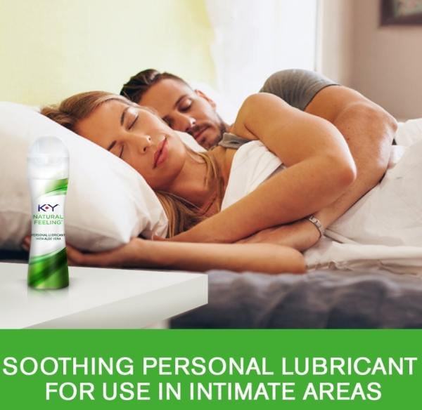 K-Y Natural Feeling Personal Lubricant Gel With Aloe Vera, Water Based & Free From Harmful Chemicals 1.69 oz, solo fun