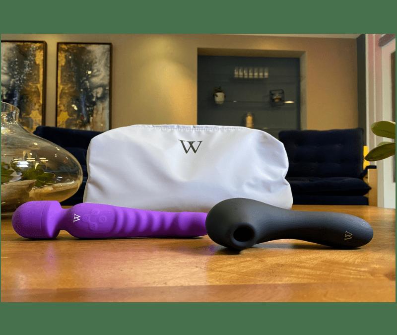 Venus Dual-Head Wand Vibrator/Soft Dildo X Drusilla – Magic Tongue Vibrator