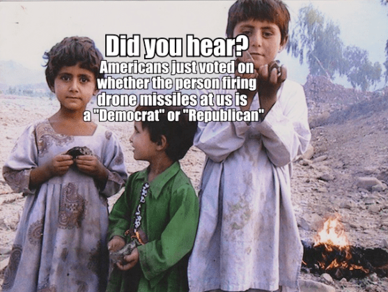 CHildren in the middle East under dronw attacks