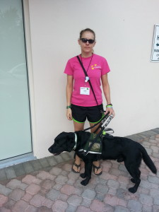 Holly and her service dog