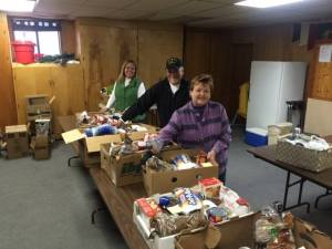 Christmas food boxes for veterans families in need