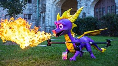 "Photo of Spyro The Dragon يتحول الى تنين ""حقيقي"" نافخ للنيران, شاهد الفيديو.."