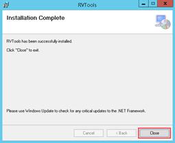 RVTools Install