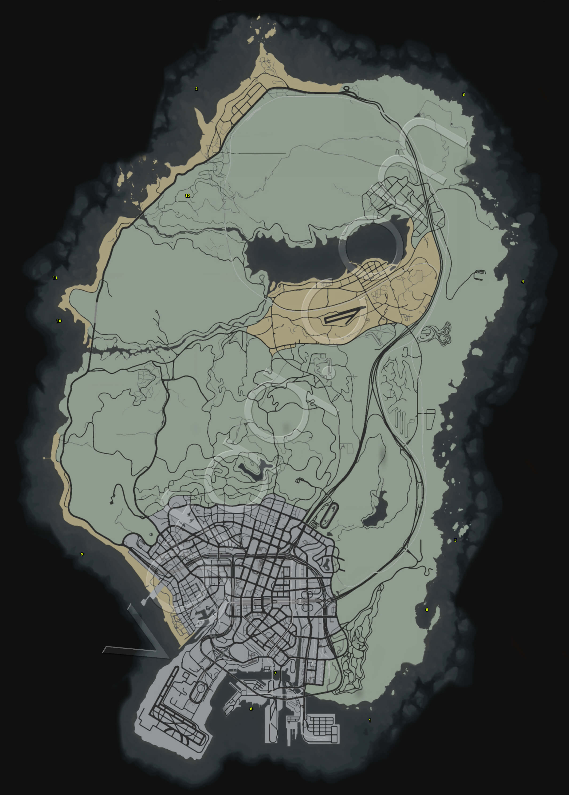 Hidden Packages Locations Map : GrandTheftAutoV