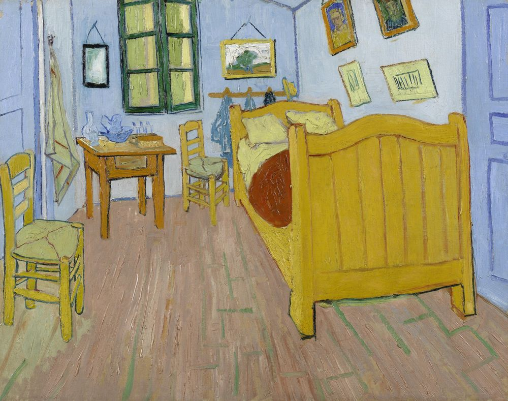 Besides Her Though After I Started Painting Was Inspired By The Van Gogh Bedroom Really Like His Style And Brushstroke A Lot