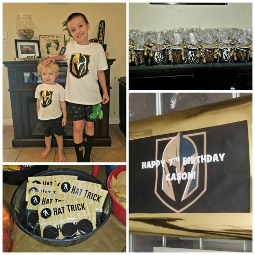 DIY Vegas Golden Knights Birthday Party