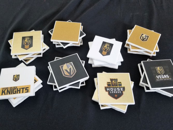 DIY Vegas Golden Knights Coasters